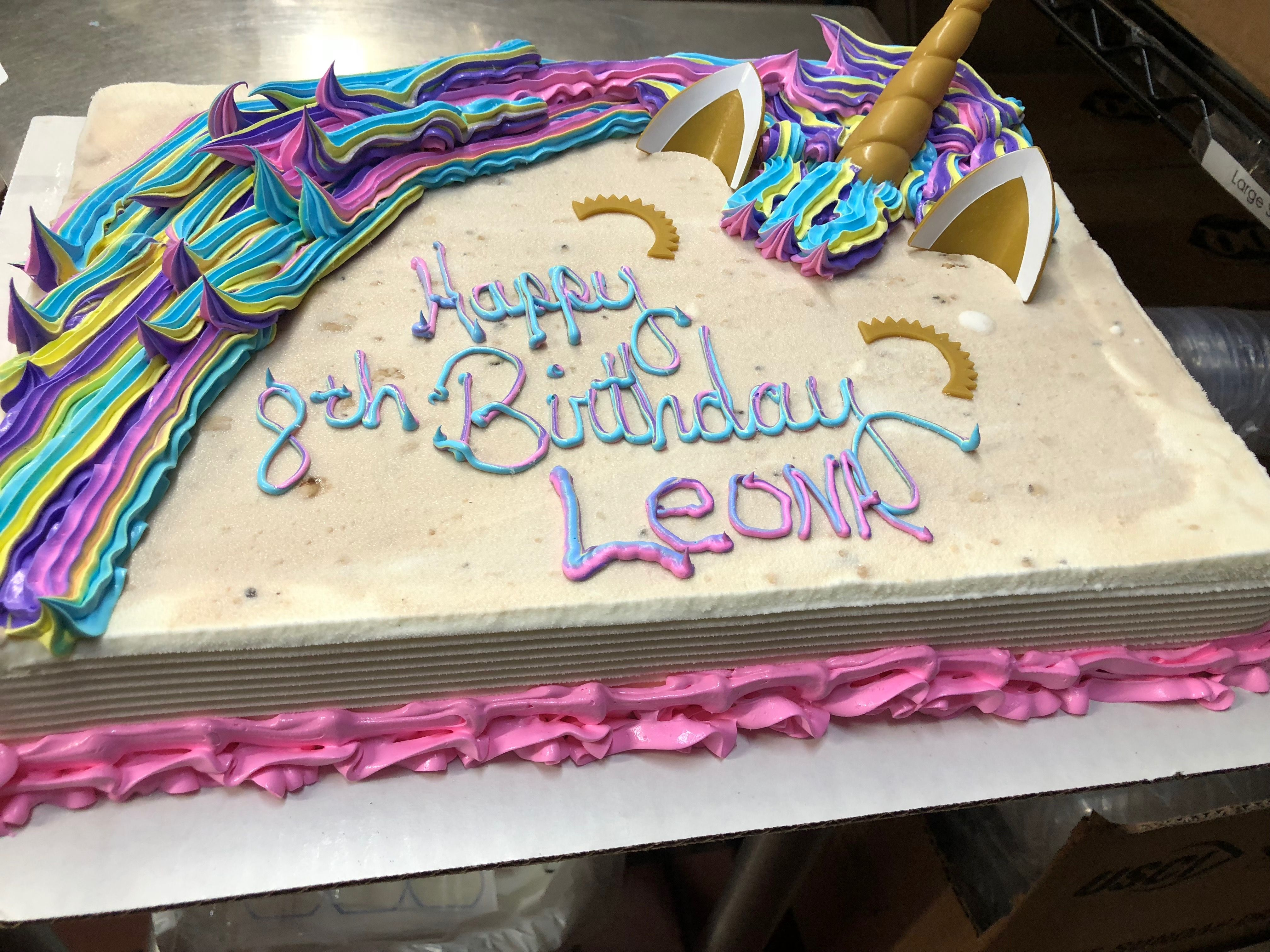 Unicorn Cake Made At Northbrook Il Dairy Queen Dqcake Dqcakes