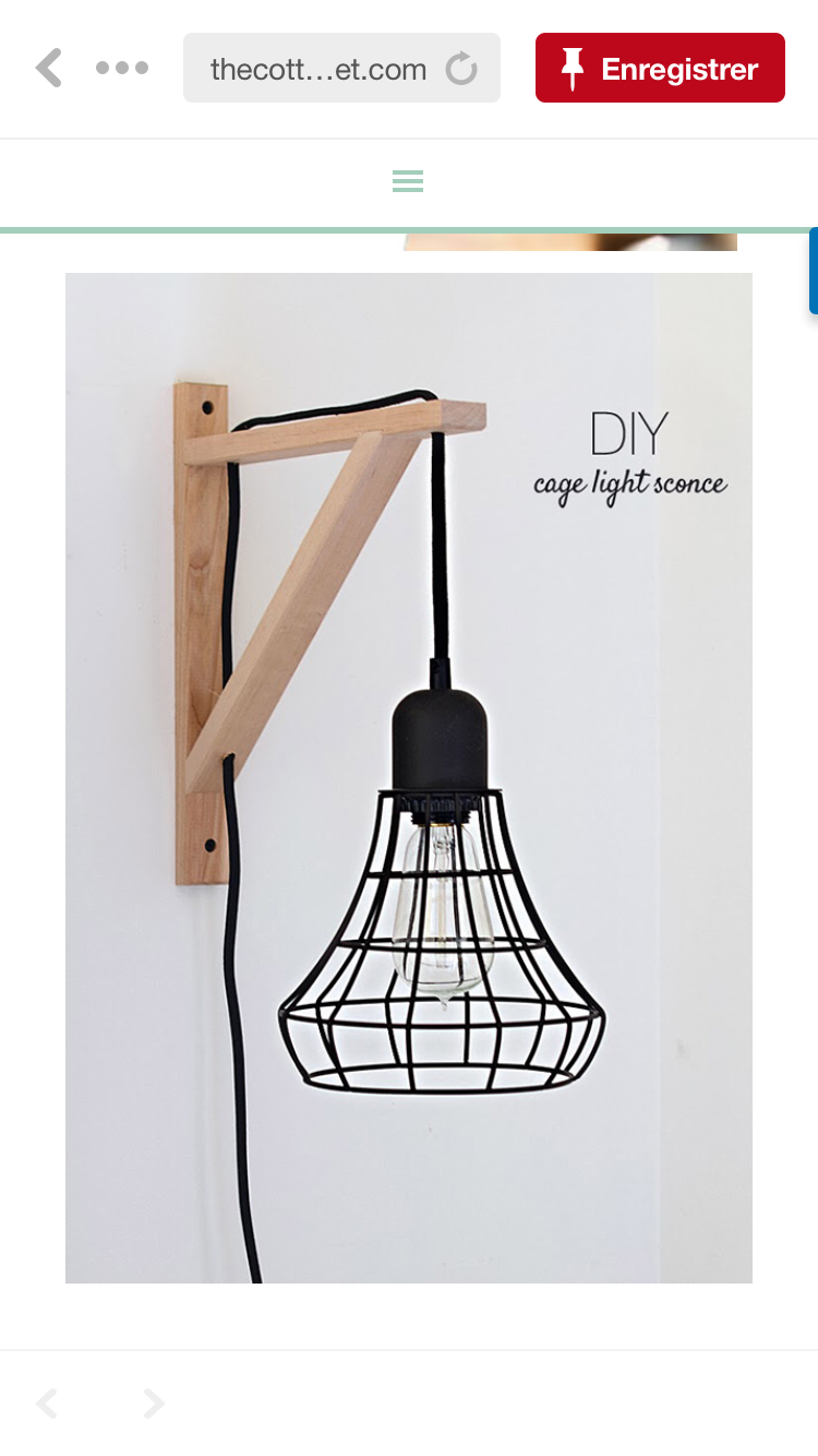 Lampe D Appoint Cage Light Sconce Lighting Ikea Hack