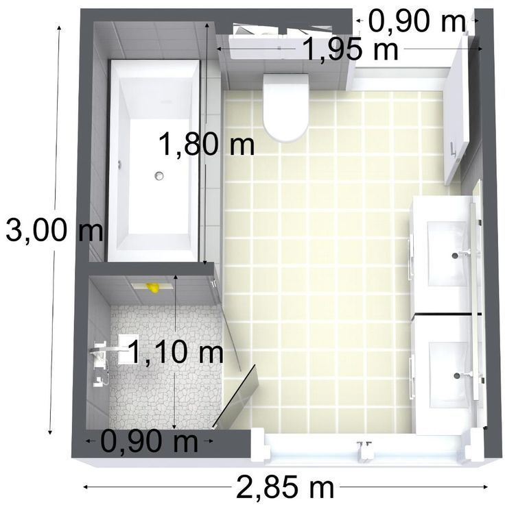 bathroom floor plan appart Pinterest