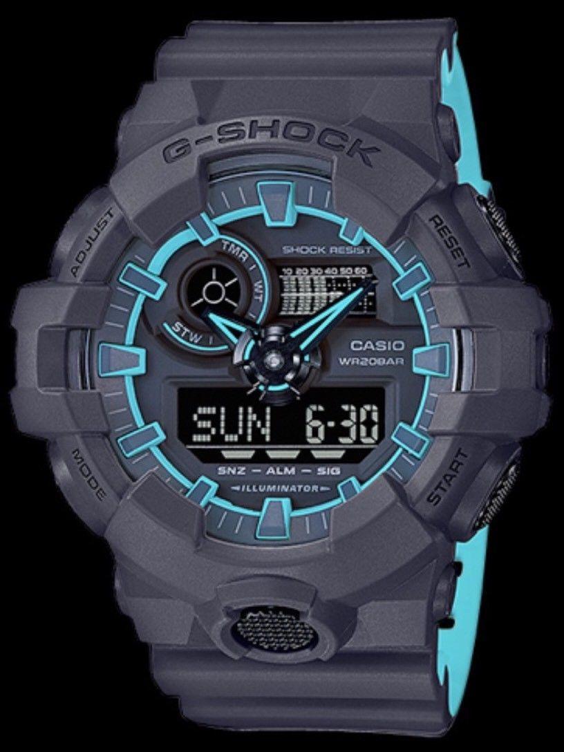 e9b6427a9e07 BRAND NEW CASIO G-SHOCK GA700SE-1A2 ILLUMINATOR BLUE BLACK ANA DIGI MEN  WATCH
