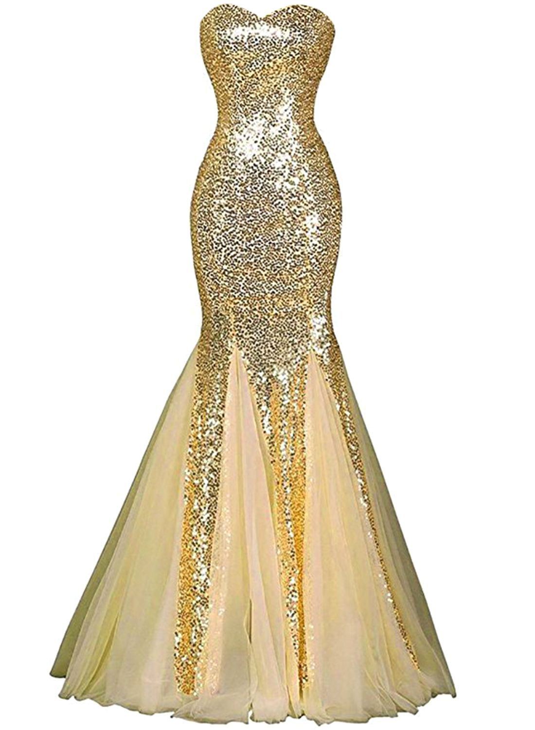 2a438681b76 Womens Glamour Sweetheart Sequin Mermaid Long Mermaid Prom Dress in ...