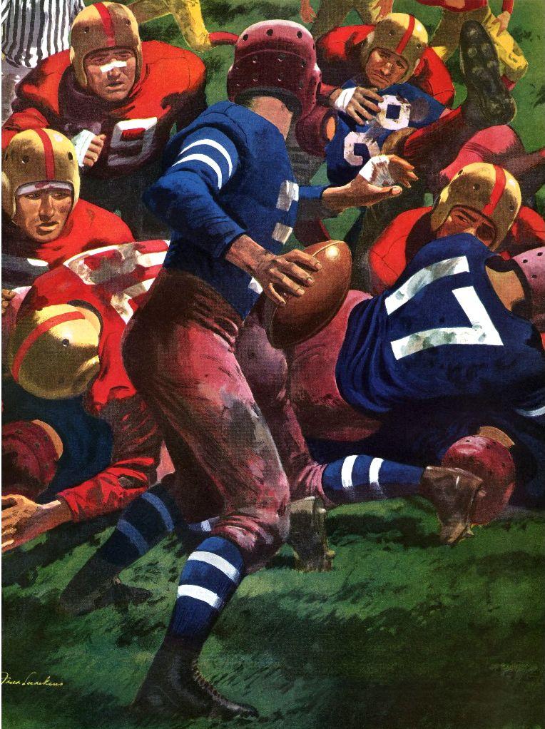 Vintage football illustration