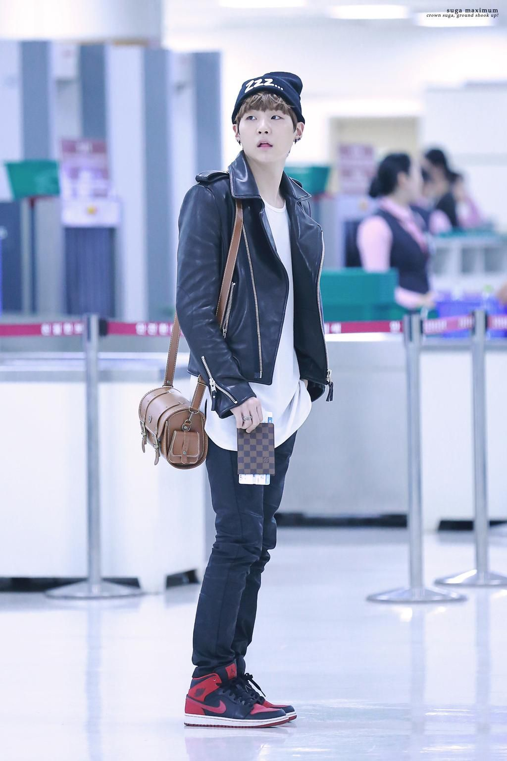 Suga 39 S Airport Fashion Suga Fashion Pinterest Airport Fashion Bts And Fashion