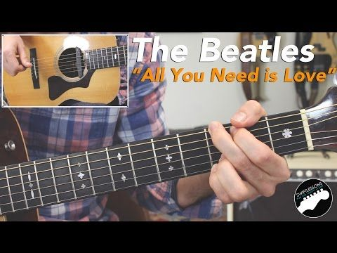 Beatles All You Need Is Love Full Rhythm Lead Guitar Lesson