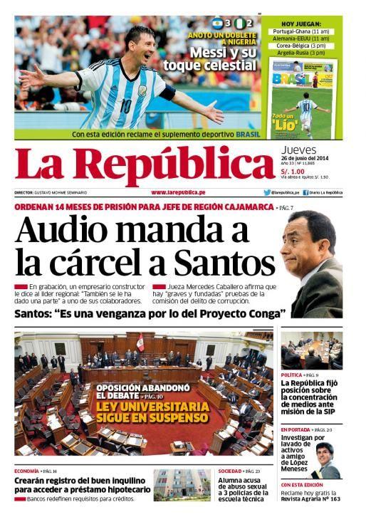 LaRepublica Lima - 26-06-2014
