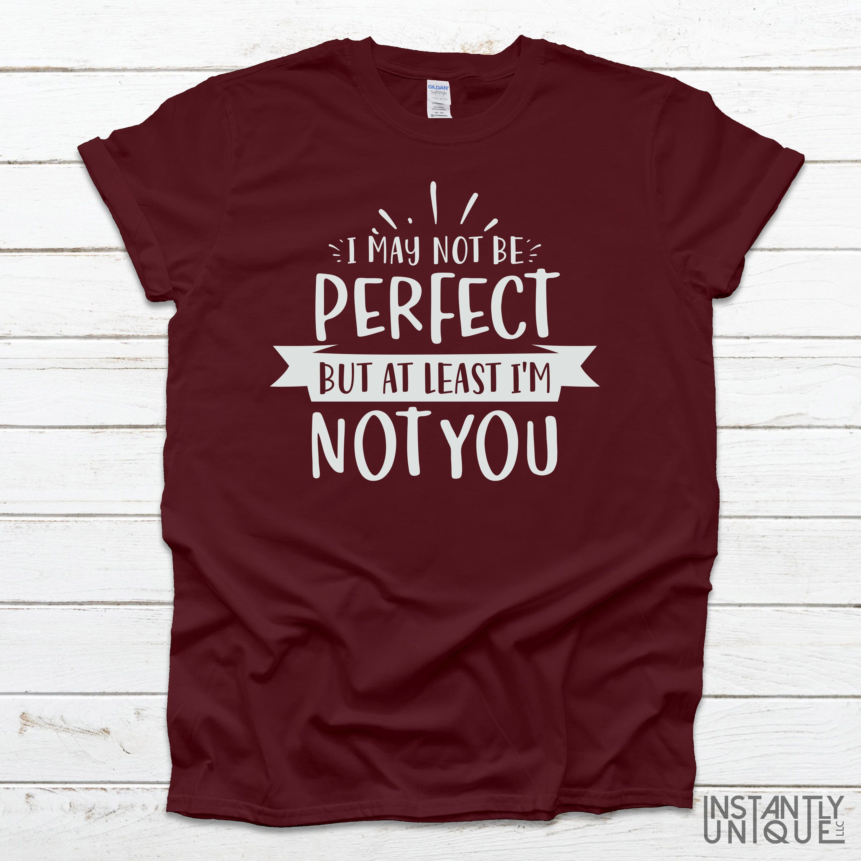 I may not be perfect but at least I'm not you! Funny T-Shirt - XL / Graphite
