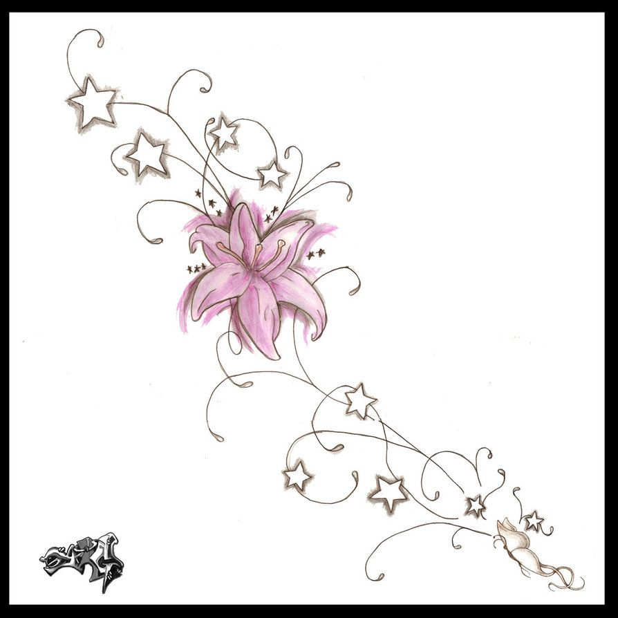 Butterfly star tattoo designs - Like Wonder If Would Fit Along The Hair Line For The Back Of My Neck Love Tattoos Pinterest Tattoo Side Tattoos And Flower Tattoos