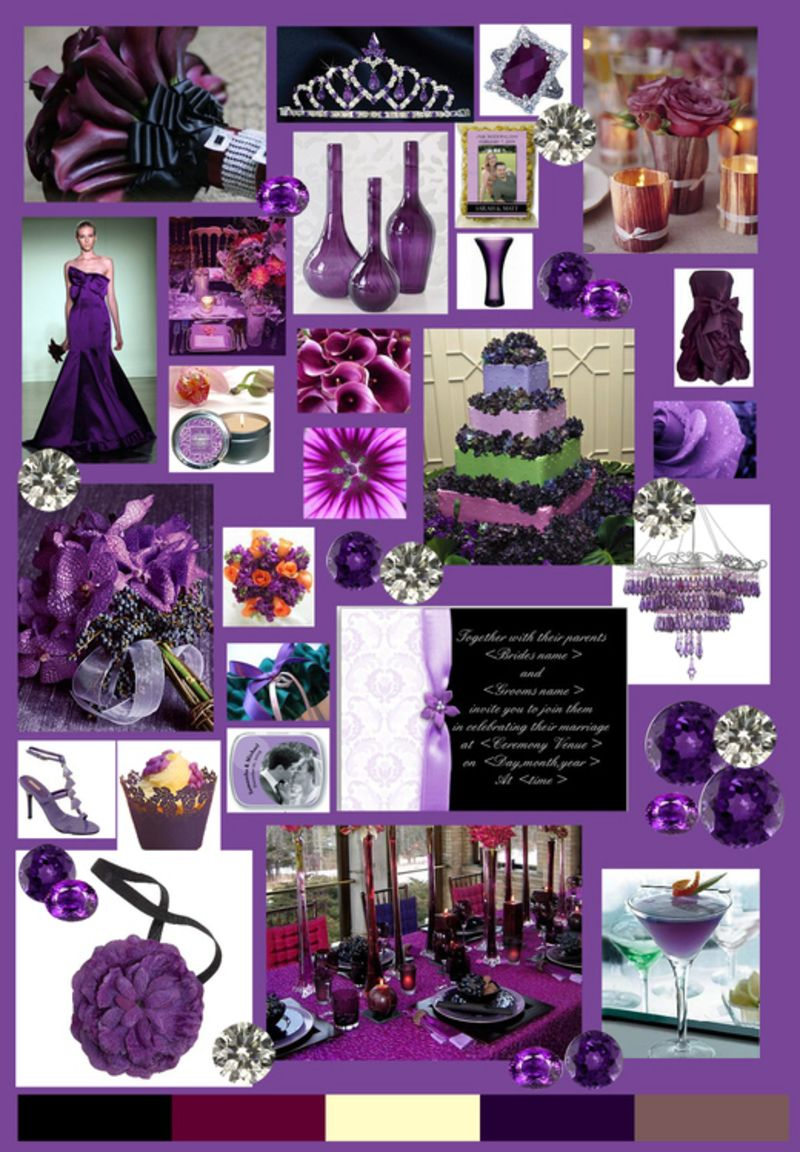 Here are some and more of Purple wedding decorations ideas