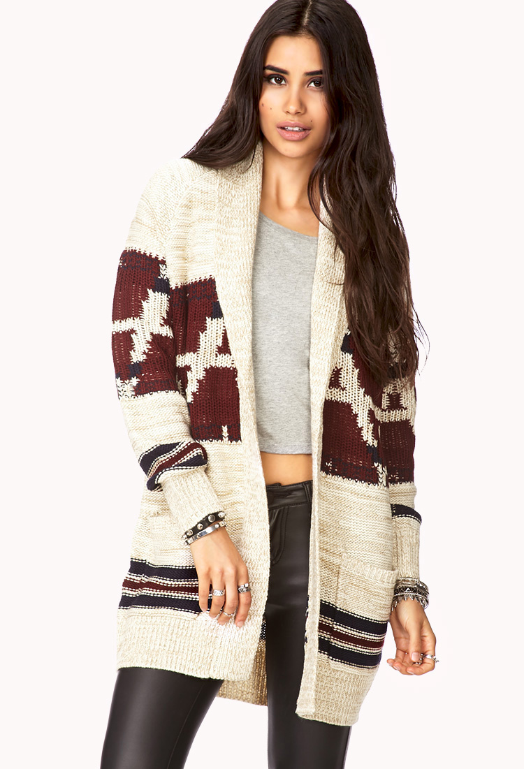 Folk Girl Open-Front Cardigan | FOREVER21 Staying warm and cozy ...
