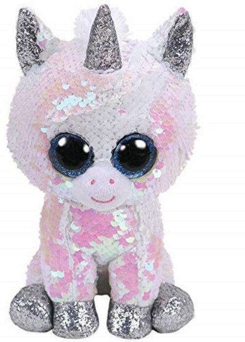 0636929d432 Peluche TY originale occhioni dolci unicorno Bianc con paillette cambia  colore