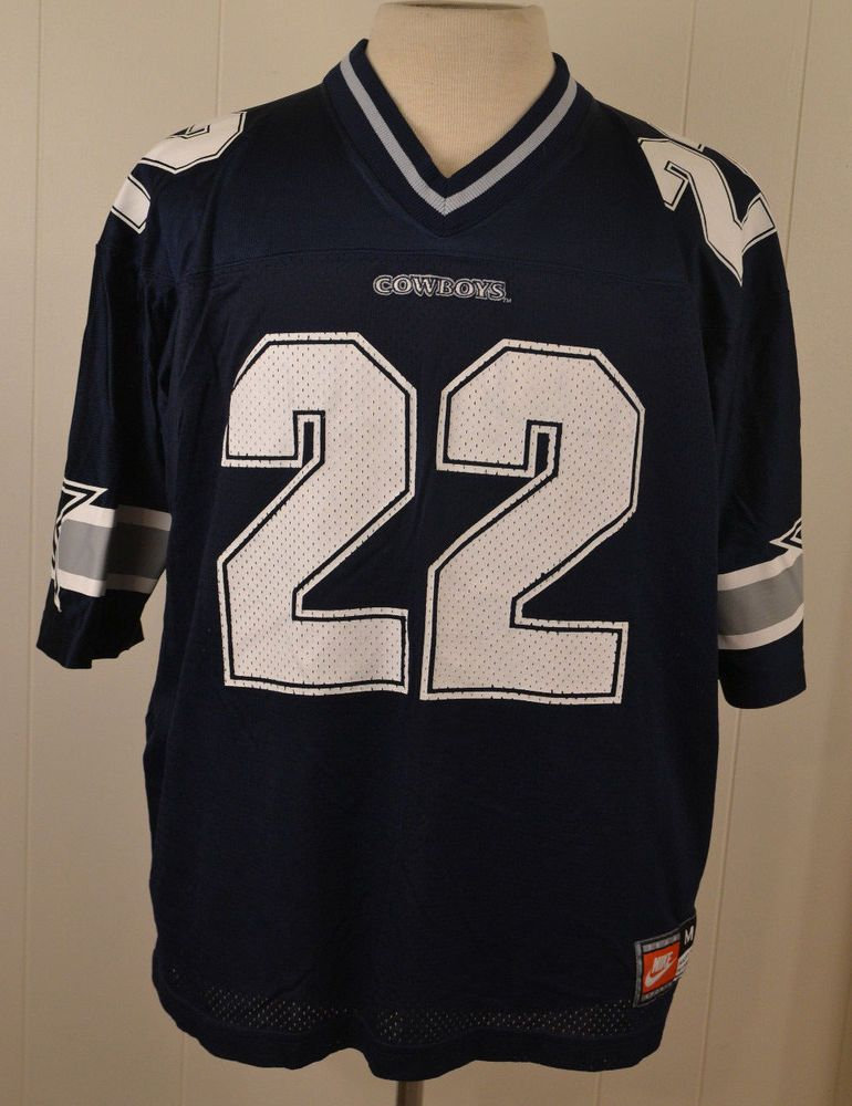 Vintage Nike Dallas Cowboys  22 Emmitt Smith NFL Jersey Adult Medium Blue   Nike  DallasCowboys 852769640
