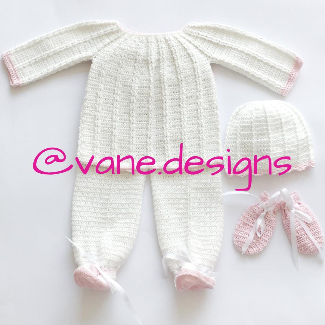 Conjunto a crochet Sweter Pantalón con piececitos Manoplas Gorrito ...