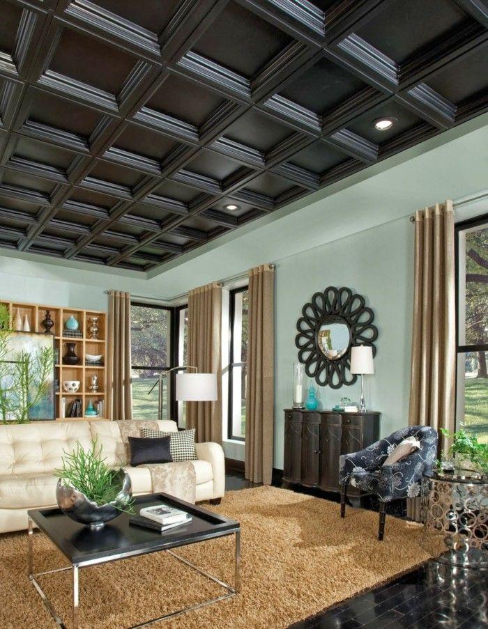 Attraktive Ideen Für Abgehängte Decke Interieurdesign Pinterest - Wohnzimmer deckenverkleidung
