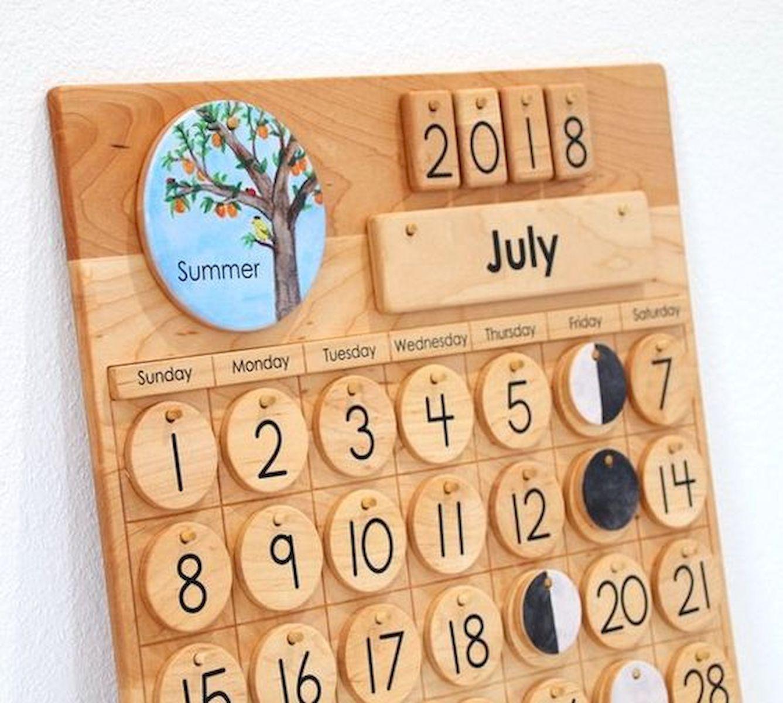 35 Gorgeous Diy Desk Calendar Ideas 26 Wooden Calendar Diy