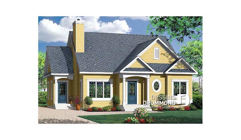 Vue avant \u2013 Modèle ORIGINAL du plan de maison unifamiliale W3116