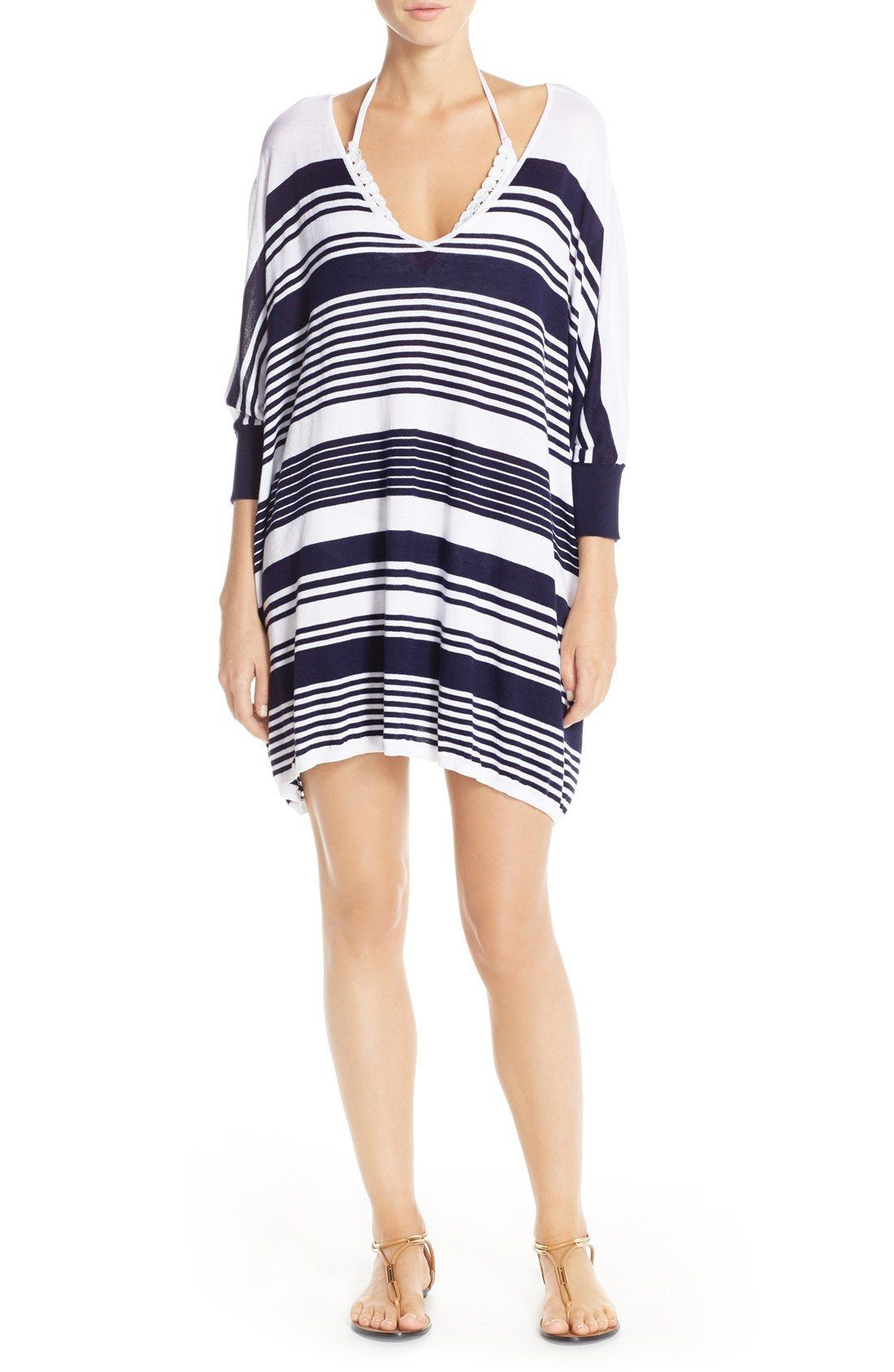 2fb94906c6f43 Tommy Bahama Stripe Cover-Up Sweater  BahamasWater