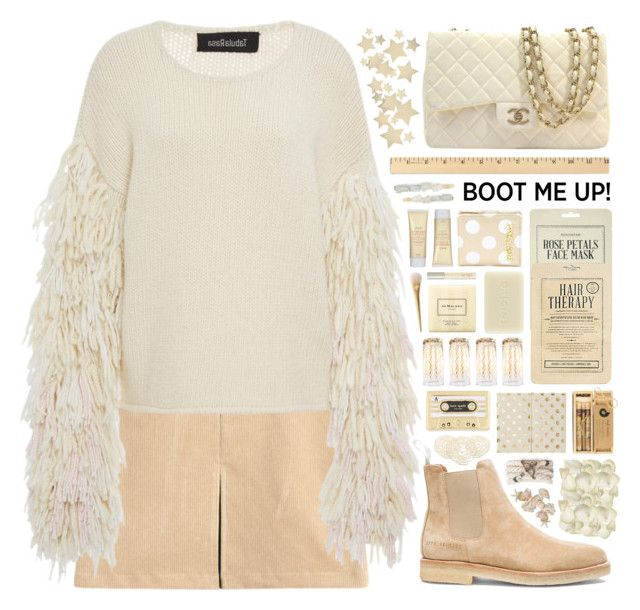 """""""""""Kick It: Chelsea Boots"""" - Contest"""" by arierrefatir ❤ liked on Polyvore featuring Tabula Rasa, Common Projects, Chanel, Bethany Lowe, Forever 21, Berry, Fresh, Kate Spade, Betsey Johnson and Kocostar"""