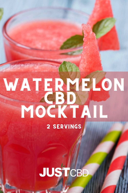 Watermelon CBD Mocktail - JustCBD