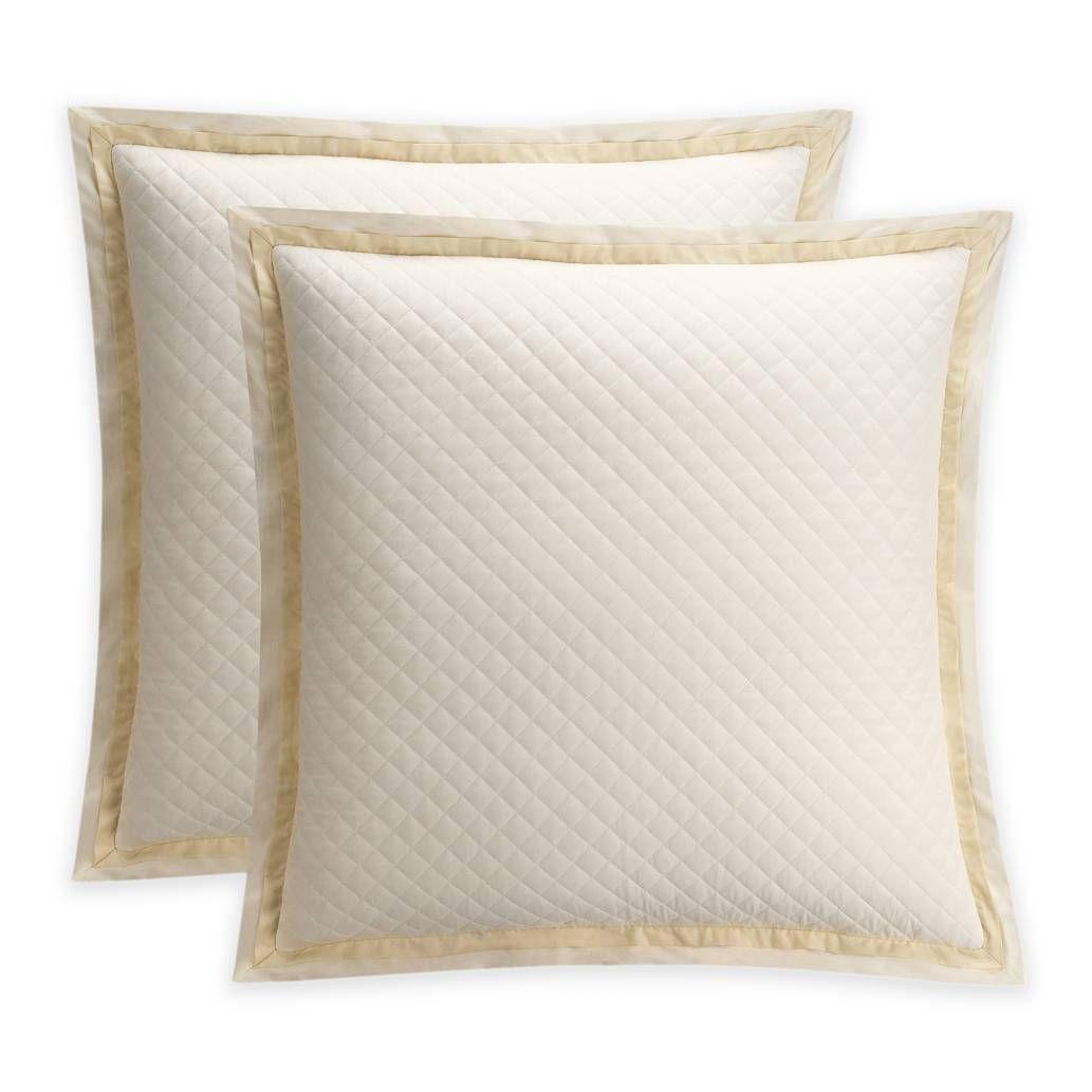 bridge street estelle european pillow sham in ivory