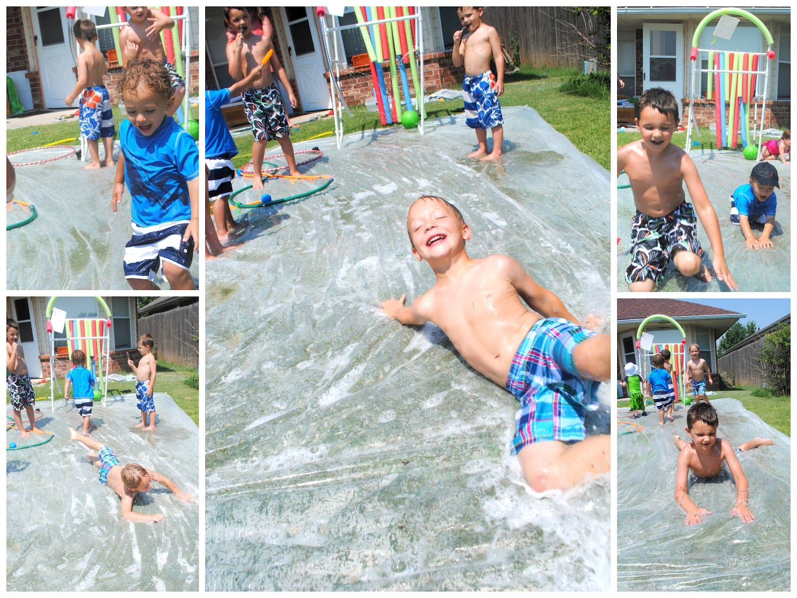 DIY Splash Pad 7 Genius Hacks Slip N SlideSummer BoredomWater PartyOutdoor FunOutdoor Party GamesBackyard