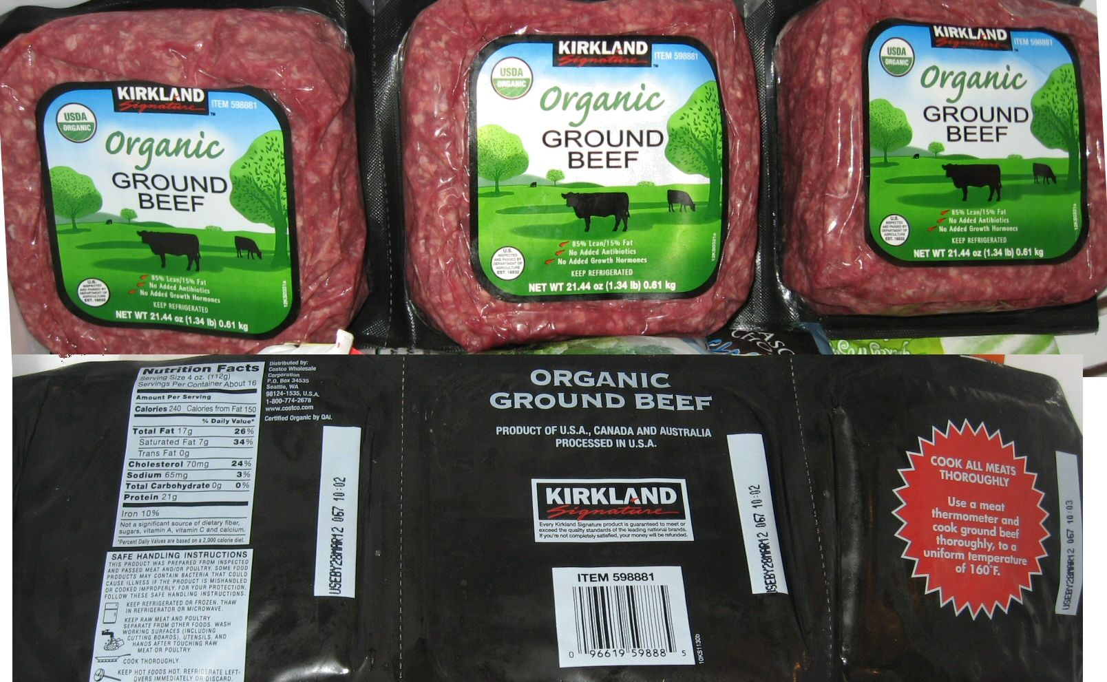Kirkland Organic Beef found at Costco | Our work & our