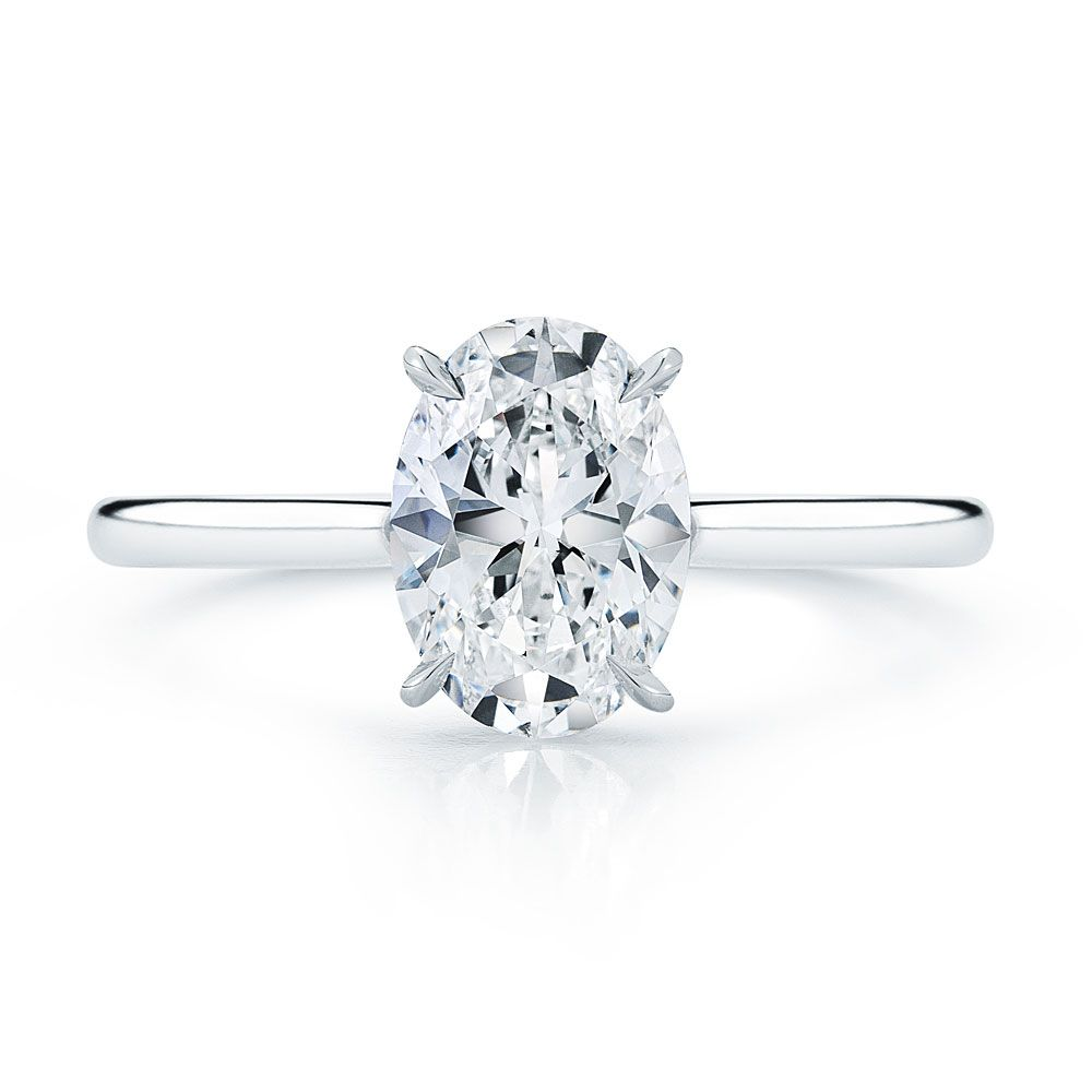 Halo Engagement Ring Side View