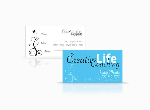 Creative Life Coaching Business Card Design For Life Coach