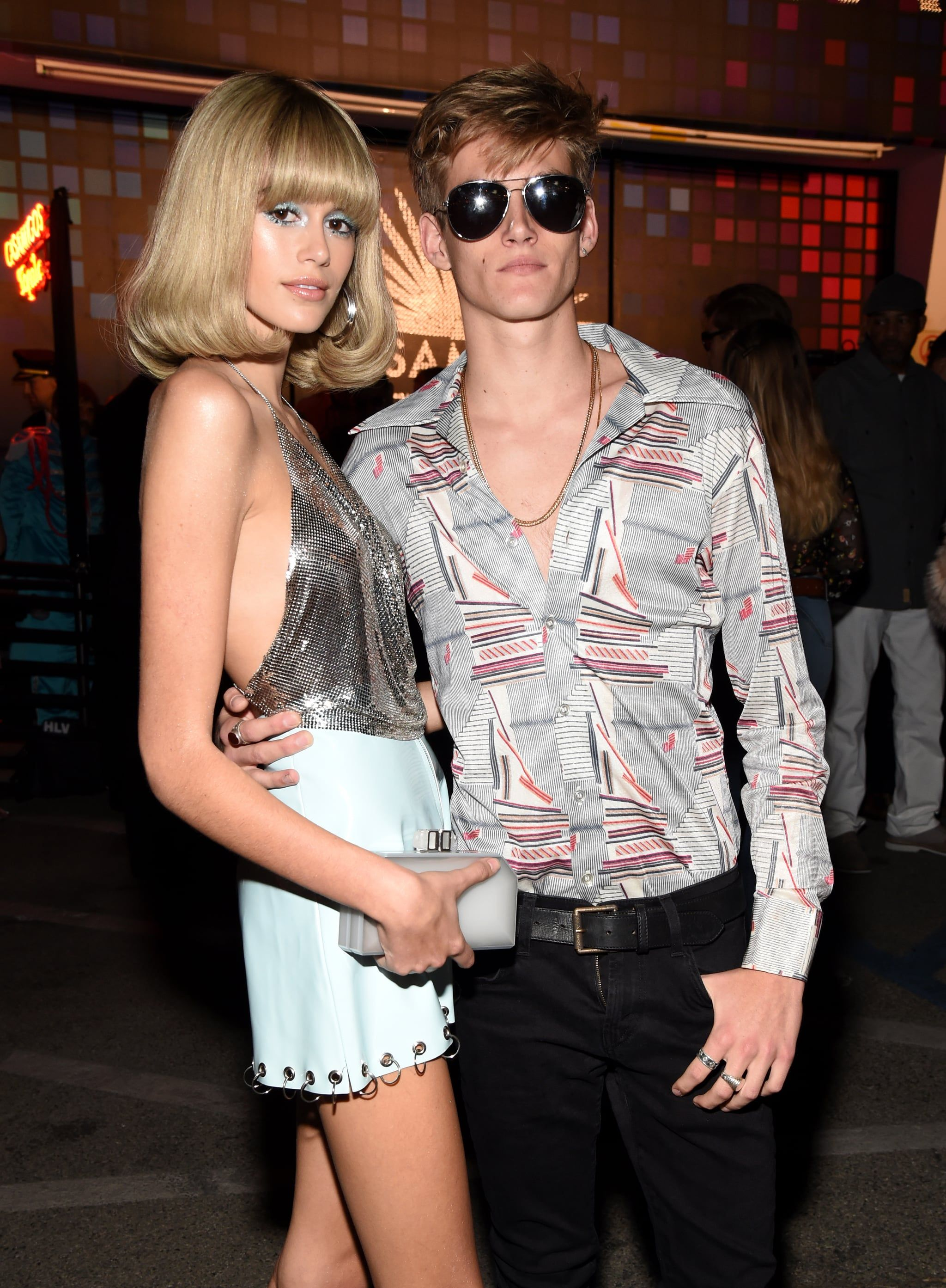 8f5b7135135 Kaia Gerber s Studio 54 Halloween Costume Was All About the Glitter ...