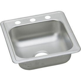 Dayton 22 gauge single basin drop in stainless steel bar sink laundry room pinterest sink for Commercial bathroom fixtures stainless steel