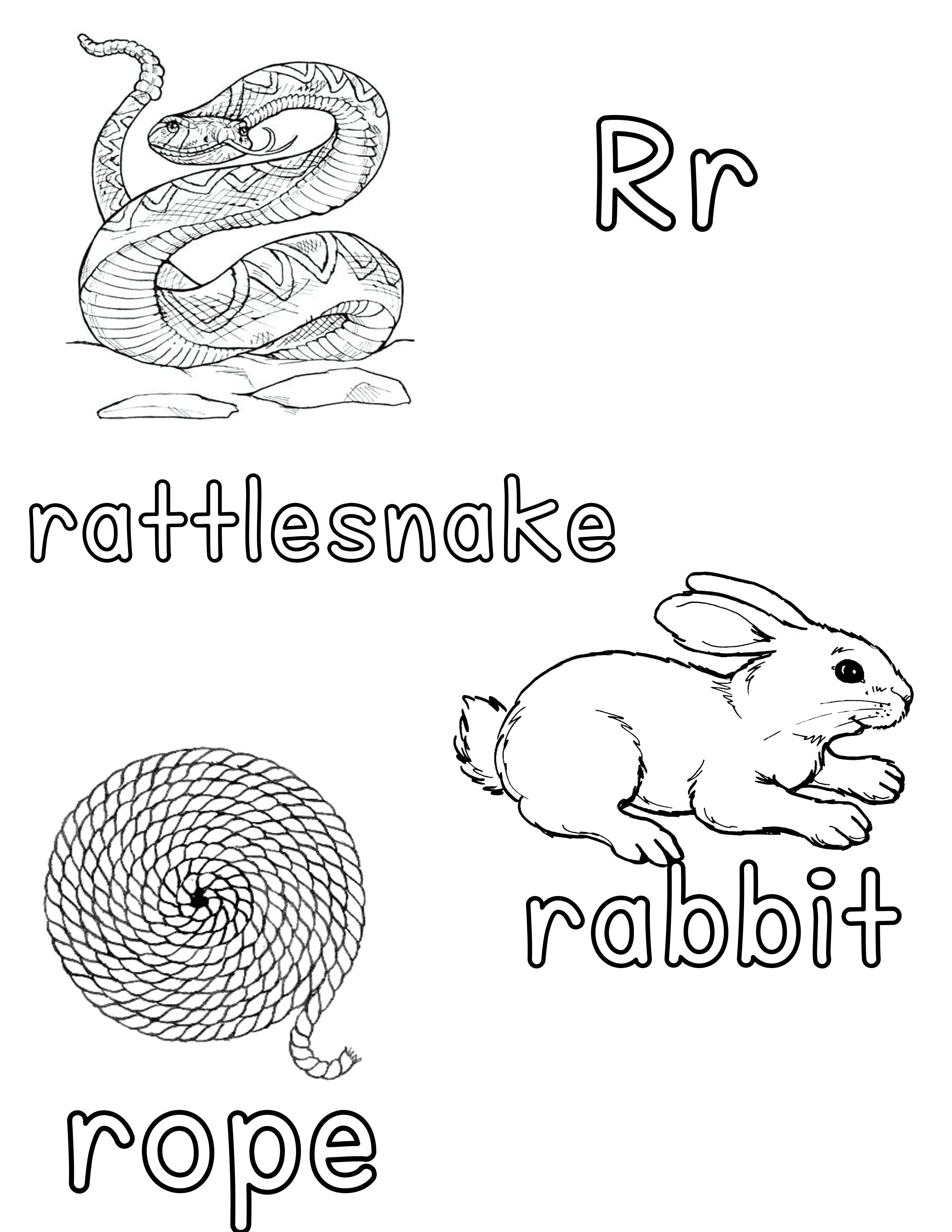 Phonetic Rr Coloring Sheet