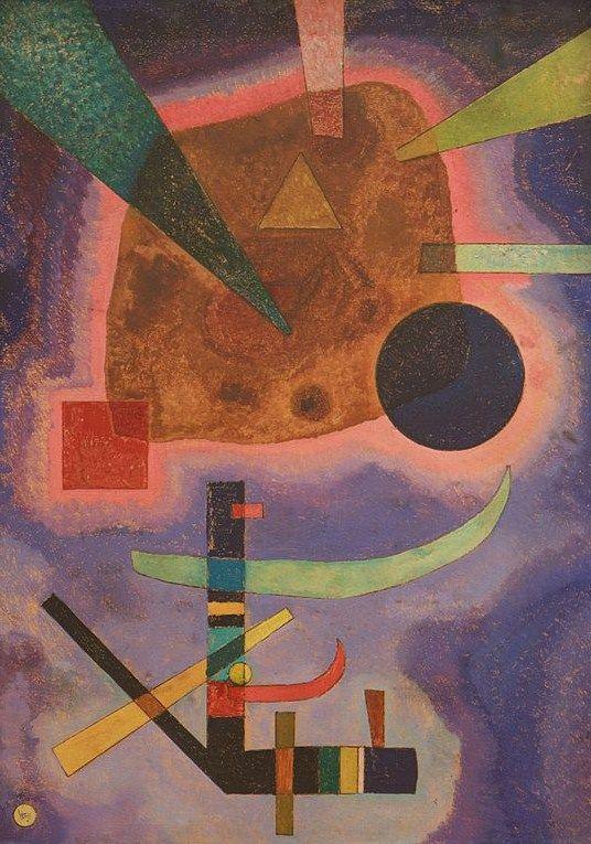 THREE ELEMENTS, 1925 Oil on cardboard #kandinsky #kandinski #kandinskij #abstraction #abstractart http://www.wassilykandinsky.net/work-732.php