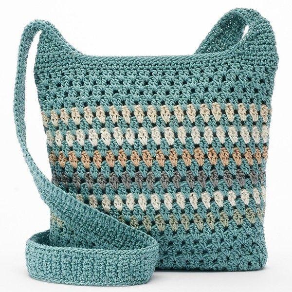 Croft Barrow Crochet Harmony Crossbody Bag Women S Valley Stripe 290 Nok Liked On Polyvore Featuring Bags Handbags Shoulder
