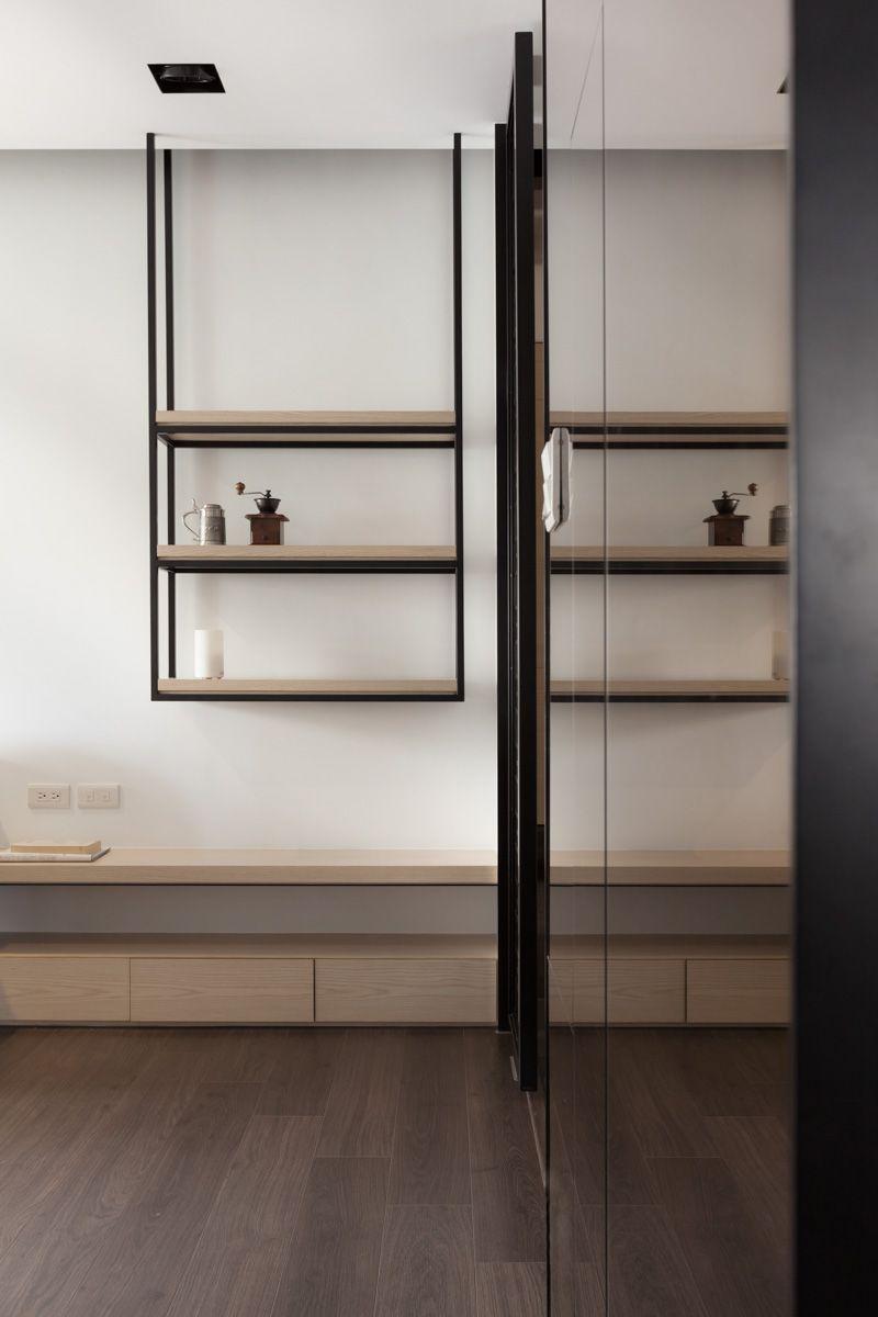 Da Jiu Interior Neihu Apartment Interior Shelves Suspended