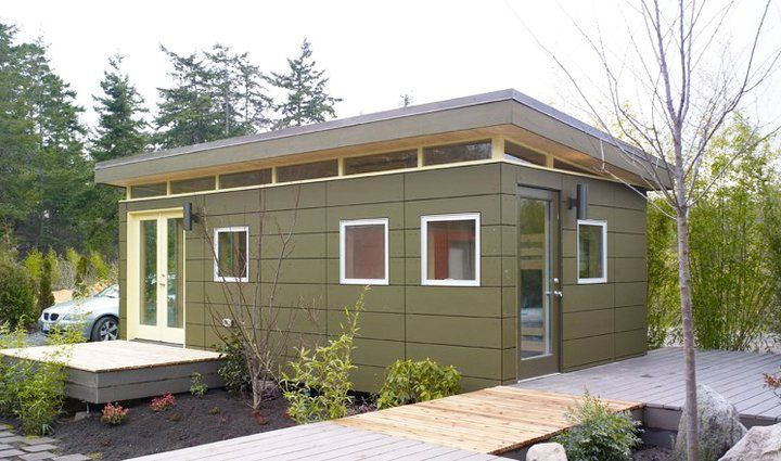 12x24 Modern Shed Guesthouse Or Small Living Mother In Law Cottage In Law House Prefab Sheds
