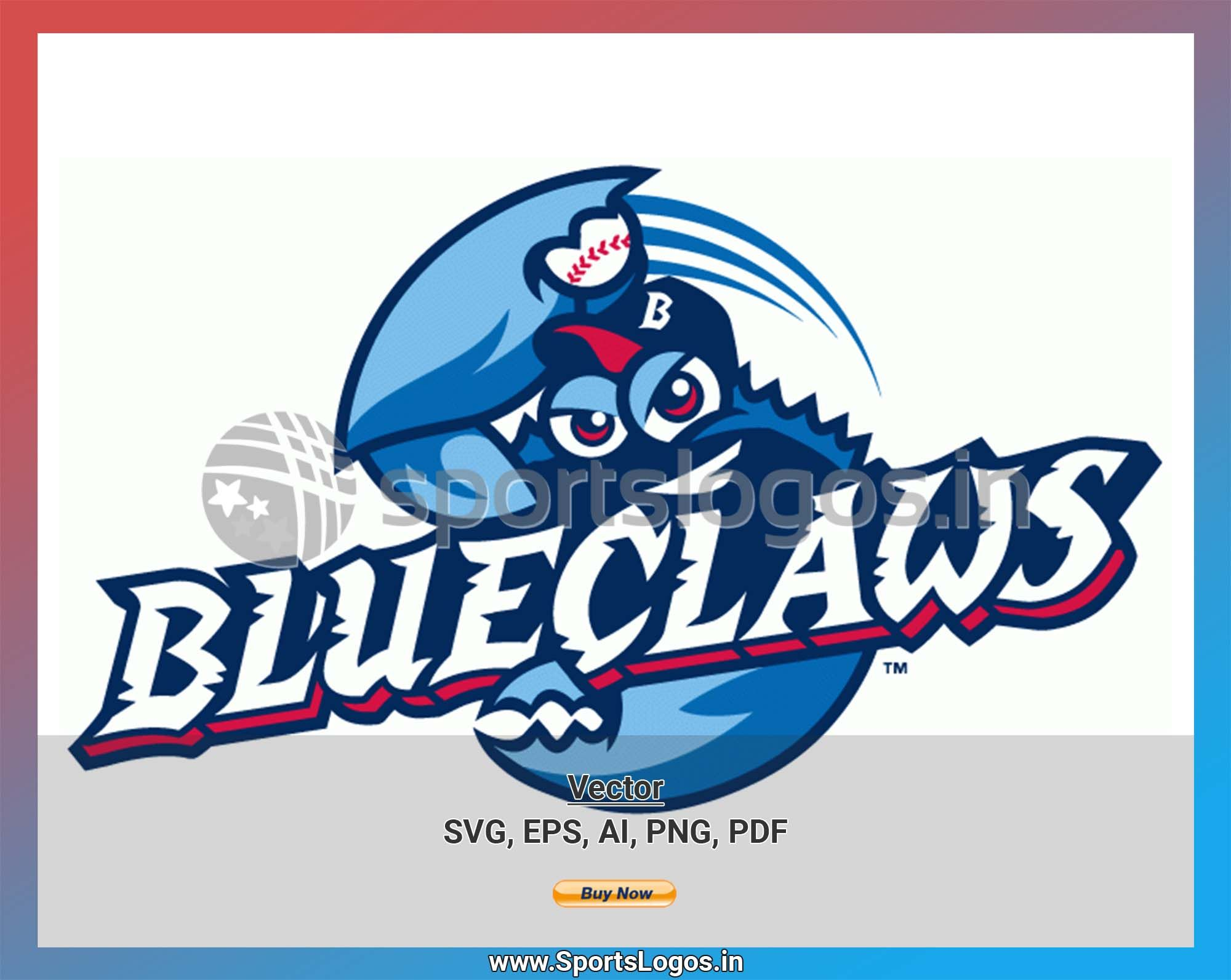 Lakewood BlueClaws Baseball Sports Vector SVG Logo in 5