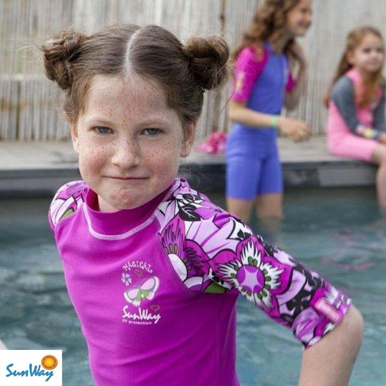 Infant girl swimsuits with rash guard-2633