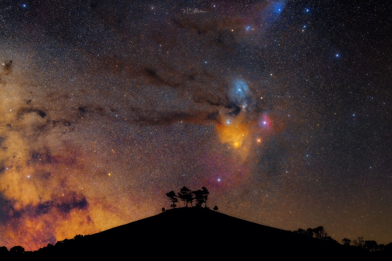 Colmers hill and the rho ophiuchi cloud complex
