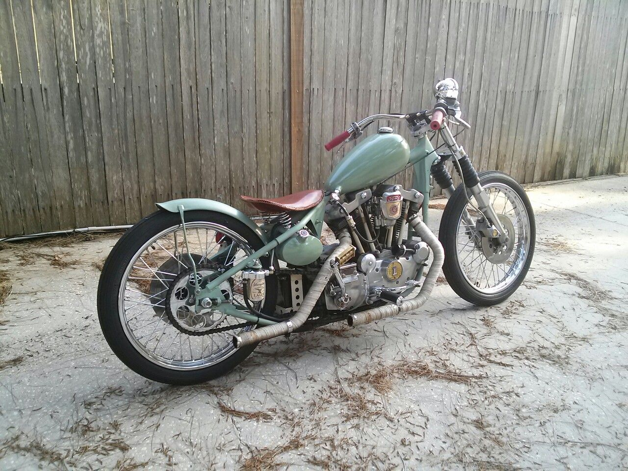 79 Ironhead Bobber With 21 Wheels Front And Rear By Dave Johnson In Clearwater Florida