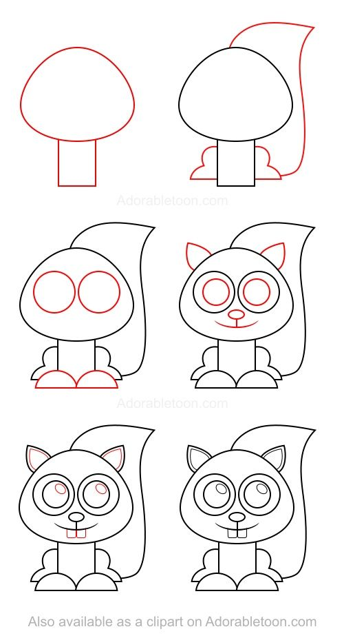 How To Draw A Squirrel Cizim Rehberleri Drawing Lessons Sanat Kulubu