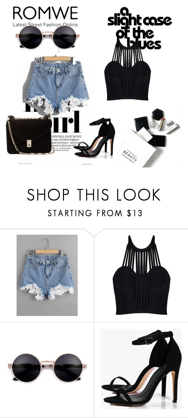 """""""Romwe"""" by ing11 ❤ liked on Polyvore featuring H&M, Boohoo and Valentino"""