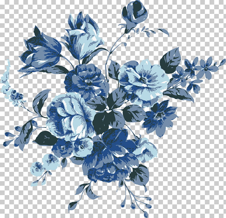 Blue Vintage Flowers Google Search In 2020 Flower Png Images Blue Flower Png Watercolor Flowers