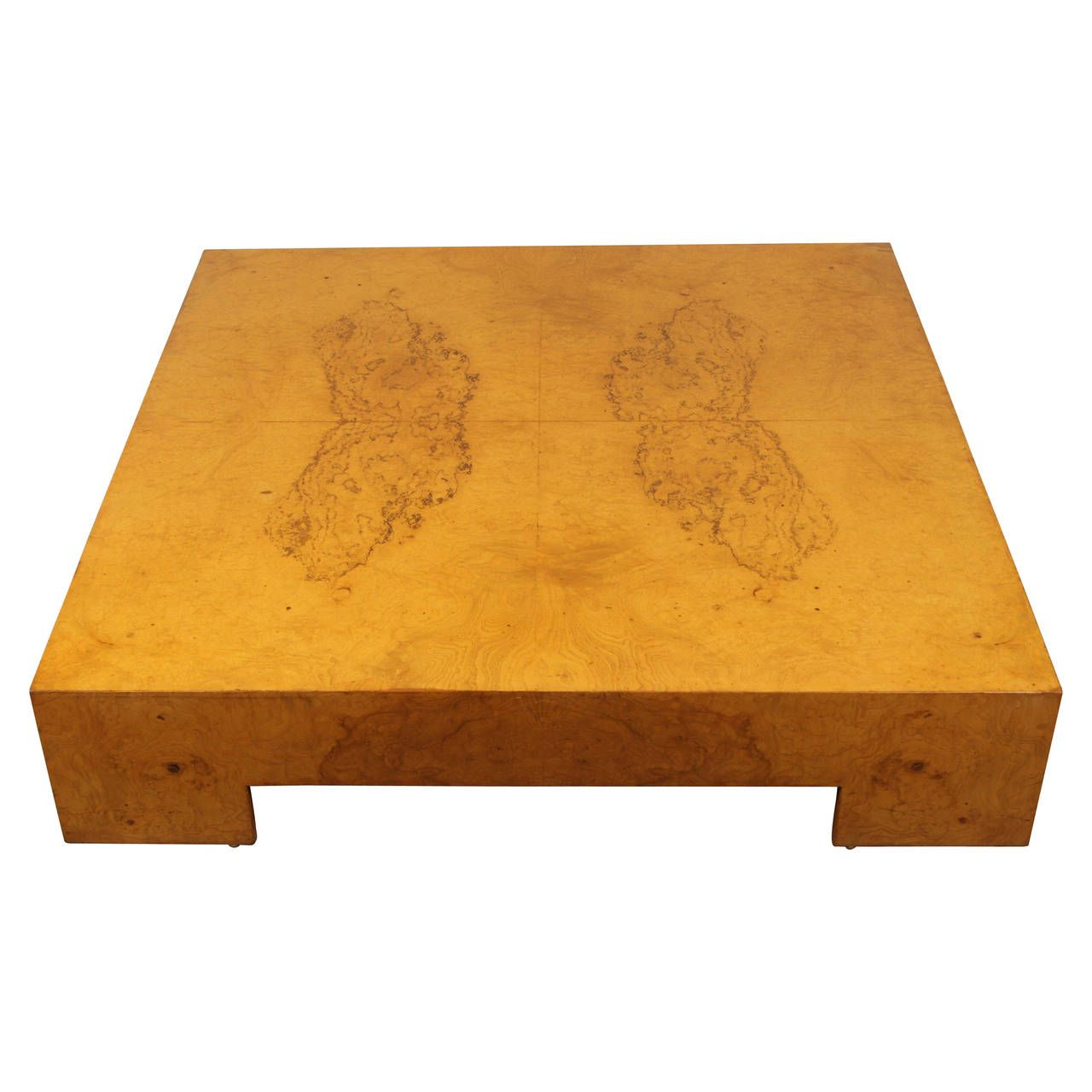 Low Square Burl Wood Coffee Table By Milo Baughman From A Unique Collection Of Antique And Modern Coffee And Cocktail Tables At Https Www 1 Coffee Table Wood