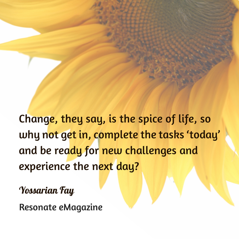 change is the spice of life