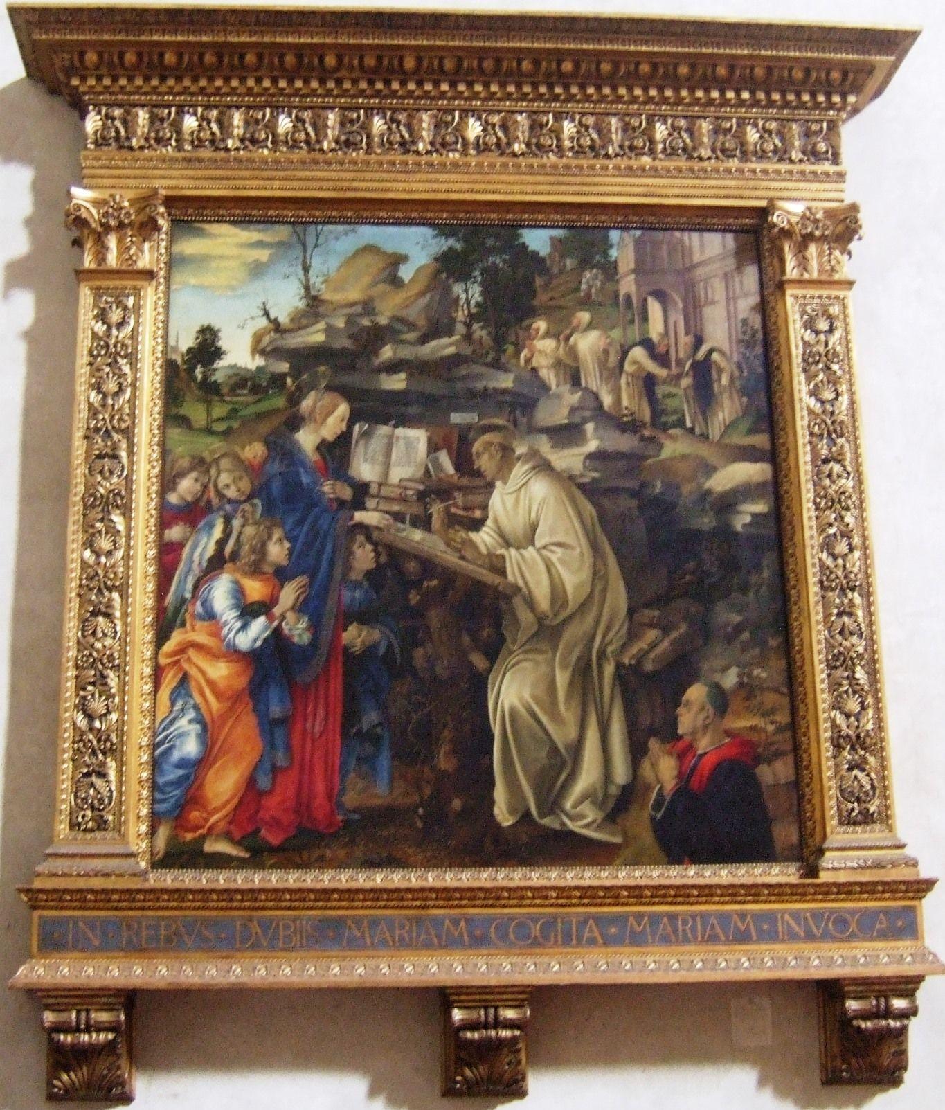 Filippino Lippi, Madonna appearing to St. Bernard (1485)