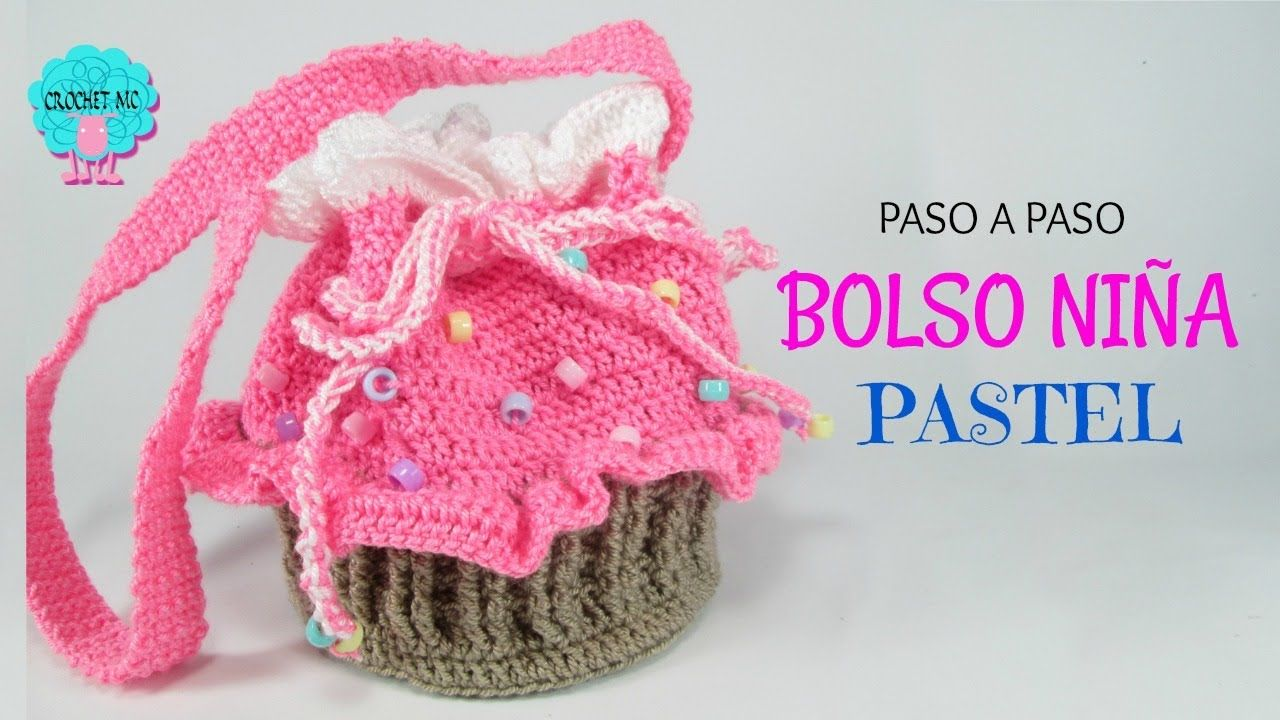 Tutorial bolso niña - cupcake | Cosas de crochet : gorros y capotas ...