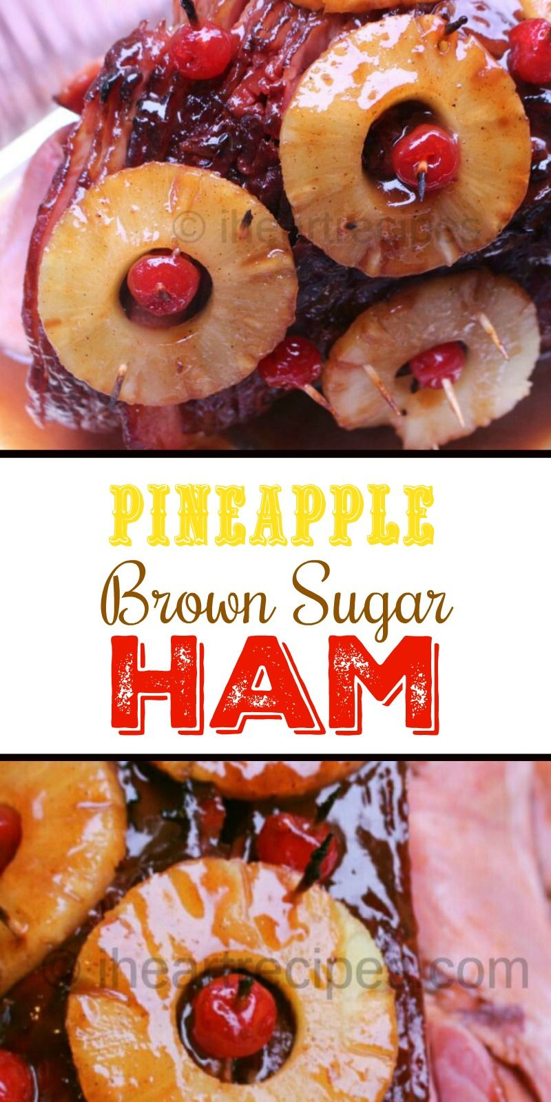 Baked Ham With Pineapple And Brown Sugar Glaze Recipe Baked