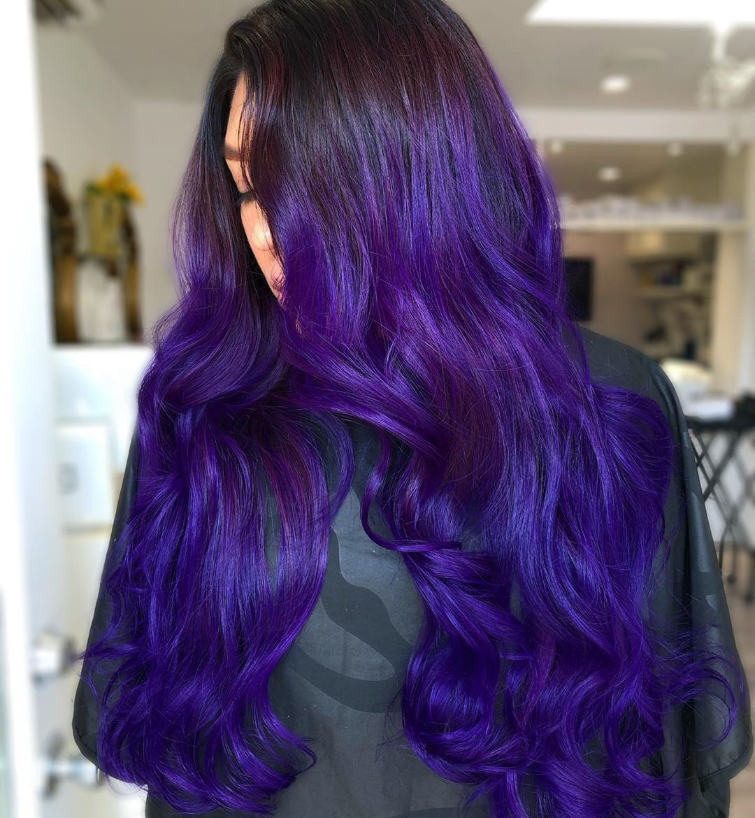 Vegan Cruelty Free Color On Instagram Violet Waves For Days By Lizzvargashair She Used Purple Rai Dyed Hair Inspiration Indigo Hair Arctic Fox Hair Color