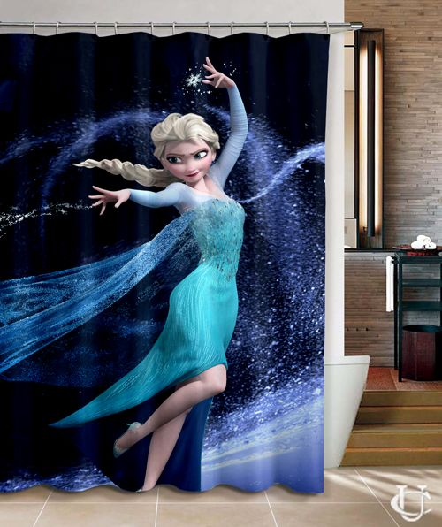 Elsa Princes Disney Frozen Movie Shower Curtain