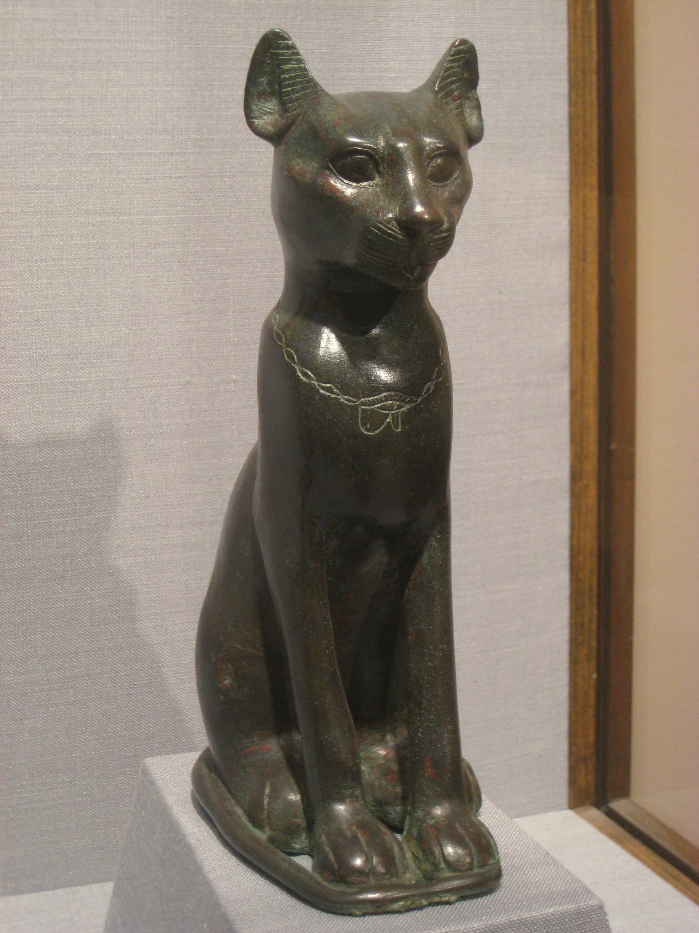Cat, Eyptian Saite (663525 BC), bronze. Ancient