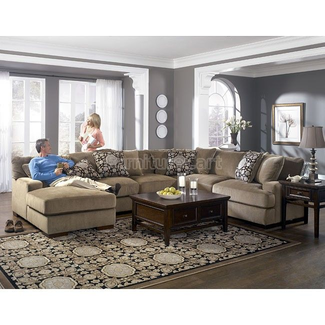 Grenada  Mocha Large Sectional Living Room Set Millennium Interesting Grey Living Room Design Design Ideas